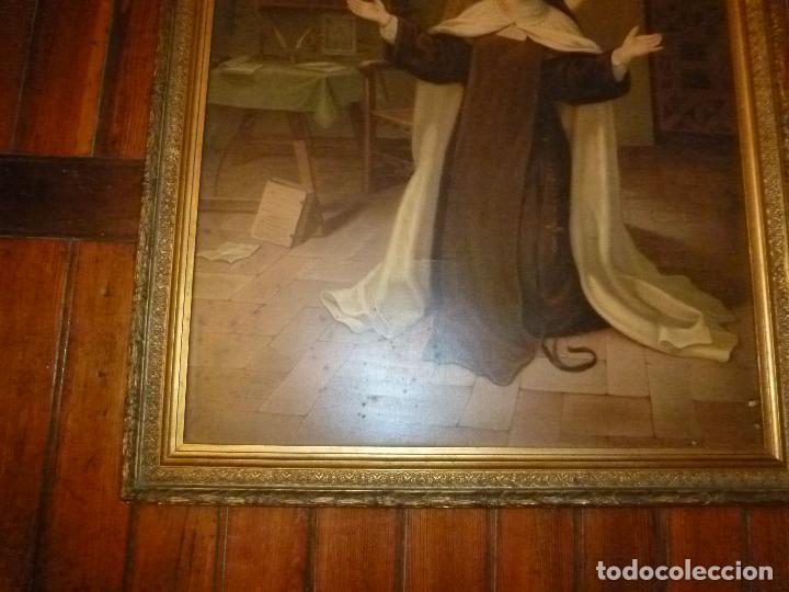 Antigüedades: GRAN MARCO DORADO CON ESTAMPA RELIGIOSA - Foto 10 - 70355329
