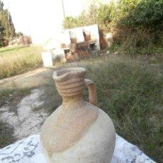 Antigüedades: ACEITERA EN CERAMICA POPULAR ANTIGUA ZONA DE ALICANTE?TAMAÑO GRANDE 38CM ALTURA. Lote 70379365