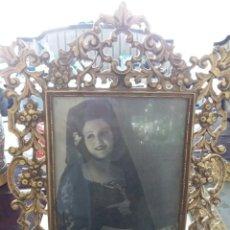 Antigüedades: CONJUNTO DE TRES MARCOS DE BRONCE. Lote 70406481