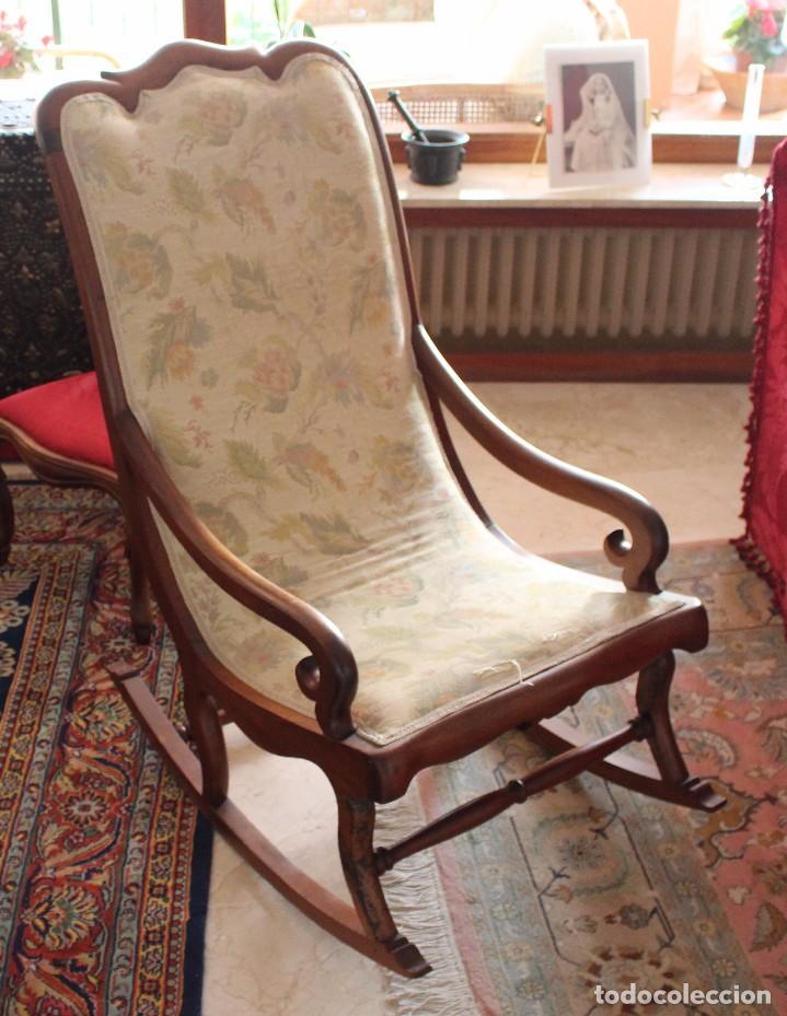 preciosa pareja de mecedoras del siglo xix antigedades muebles antiguos sillas antiguas