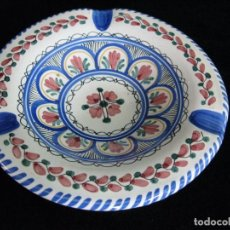 Antigüedades: CENICERO DE CERÁMICA PUENTE DEL ARZOBISPO FIRMADA: CRUZ. 18CM.. Lote 70460597