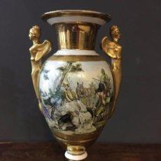 Antigüedades: JARRÓN PORCELANA FRANCESA , PORCELAINE DE PARIS, FINALES S. XIX. Lote 70480861