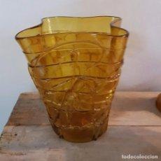 Antigüedades: JARRON DE CRISTAL COLOR CARAMELO, GORDIOLA. Lote 70492325