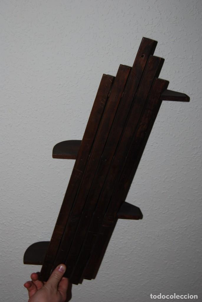 Antigüedades: ORIGINAL BALDA DE MADERA - REPISA - AÑOS 30-40 - ART DÉCO - Foto 5 - 70521537