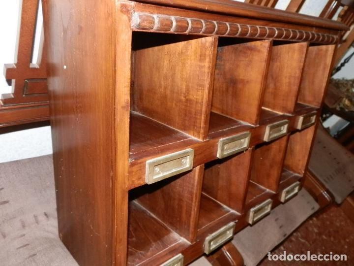 Dos casilleros recepcion murales en teka o jaca comprar muebles auxiliares antiguos en - Murales de madera ...