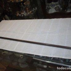 Antigüedades: BASTÓN DE MADERA CON PUNTA METÁLICA. 92 CMS.. Lote 70534805