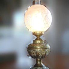 Lampara de Keroseno Plume & Atwood - Made in the US - Convertida a Electrica - 1869-1900