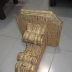 Antigüedades: ANTIGUA PEANA - MÉNSULA DE MADERA. Lote 70554237