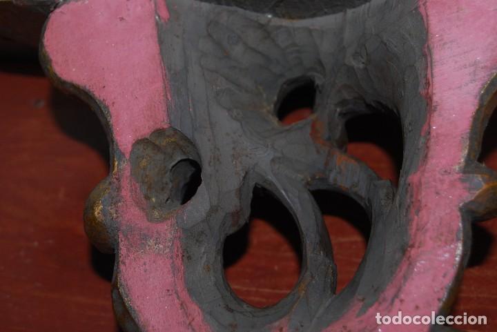 Antigüedades: MÉNSULA MODERNISTA DE MADERA TALLADA Y DORADA - REPISA - FINALES SIGLO XIX - Foto 12 - 70554893