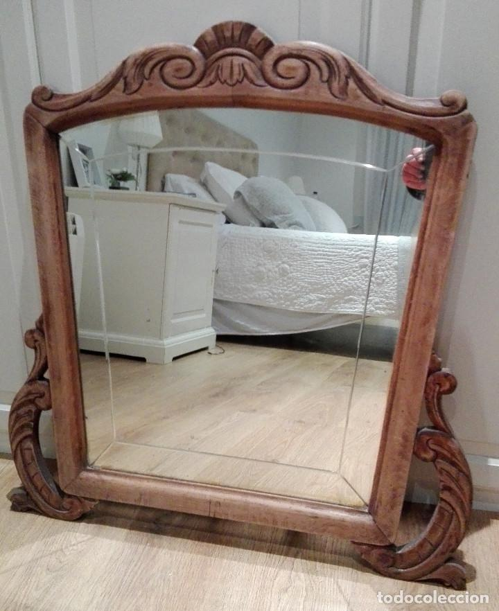 antiguo espejo tocador de madera con cristal vi - Comprar Espejos ...