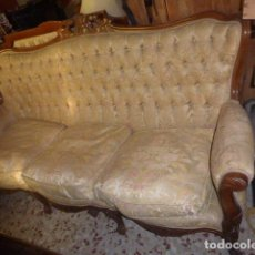 Antiquités: CONJUNTO SE SOFA Y DOS SILLONES ANTIGUOS TRESILLO. Lote 70693641