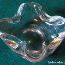 Antigüedades: CENICERO DE CRISTAL DE MURANO. Lote 70783841
