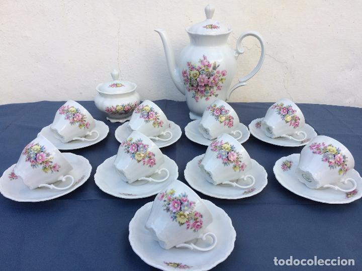 JUEGO ANTIGUO DE CAFÉ EN PORCELANA DE BAVARIA SELLADO SELTMANN (Antigüedades - Porcelana y Cerámica - Alemana - Meissen)