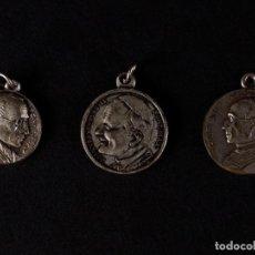 Antigüedades: MEDALLAS LOTE 3 UDS. PIO XII Y JUAN PABLO II, AÑOS SANTOS. Lote 71028965
