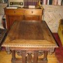 Antigüedades: MESA DE NOGAL S.XIX. Lote 71037445