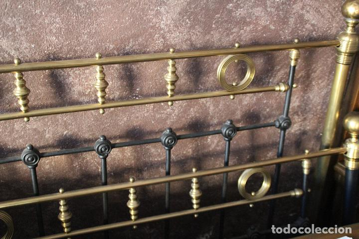 Antigüedades: PRECIOSA CAMA METAL (RESTAURADA) - Foto 3 - 54803256