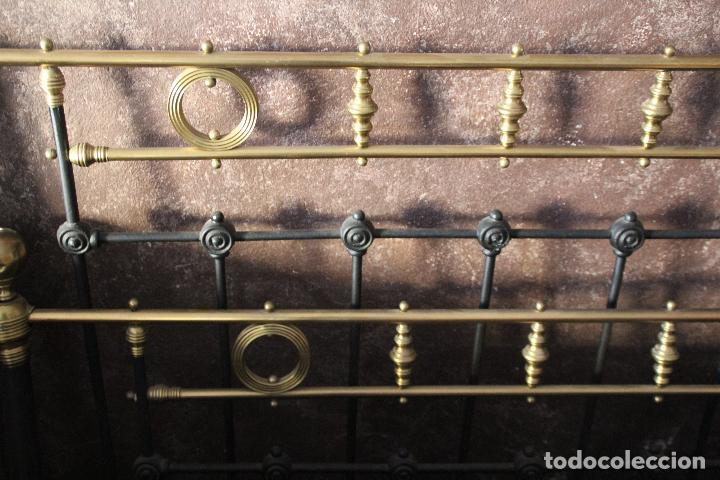 Antigüedades: PRECIOSA CAMA METAL (RESTAURADA) - Foto 4 - 54803256