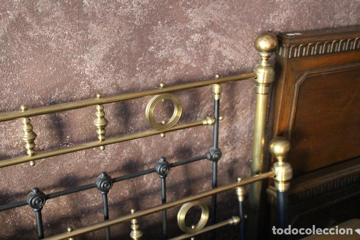 Antigüedades: PRECIOSA CAMA METAL (RESTAURADA) - Foto 5 - 54803256