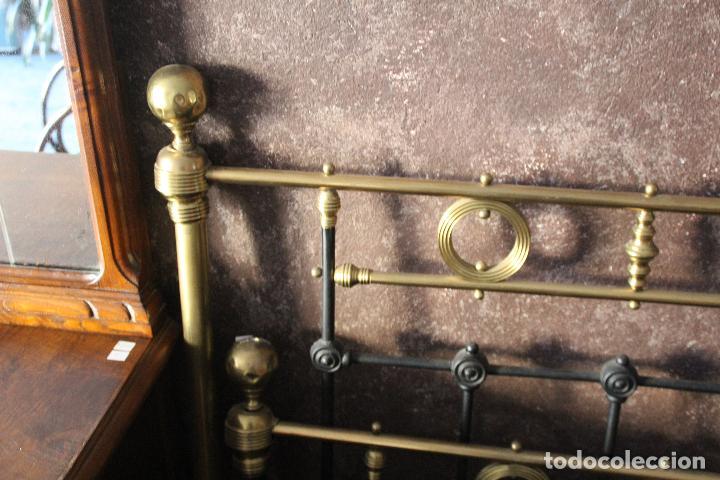 Antigüedades: PRECIOSA CAMA METAL (RESTAURADA) - Foto 6 - 54803256
