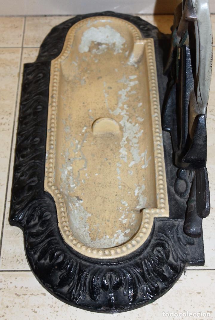 Antigüedades: BASTONERO EN HIERRO FUNDIDO - CORNEAU ALFRED CHARLEVILLE - FORMA DE MARINERO FRANCÉS - H. 1880 - Foto 15 - 71066177