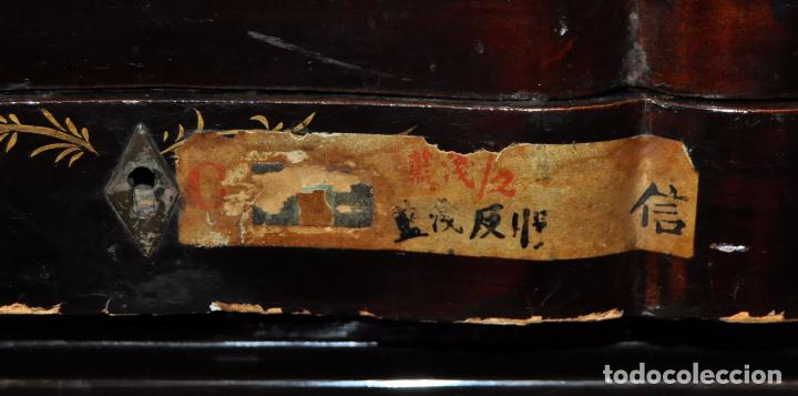 Antigüedades: ANTIGUA MESA CHINA EN MADERA LACADA. SIGLO XIX (HACIA 1880) - Foto 6 - 71074173