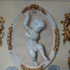 Antigüedades: ANGEL PORCELANA ALGORA 51CM CON CAJA ORIGINAL. Lote 71909293