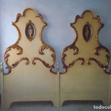 Antigüedades: CABEZAL CAMA TIPO OLOT ESTILO OLOTINO CABEZAL DOBLE DESMONTABLE VER FOTOS. Lote 71130873