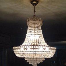 Antigüedades: LAMPARA CRISTAL DE ROCA. Lote 71146045