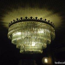 Antigüedades: LAMPARA DE CRISTAL DE ROCA. Lote 71146253