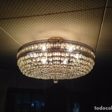 Antigüedades: LAMPARA DE CRISTAL DE ROCA. Lote 71146309