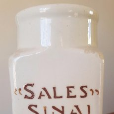 Antigüedades: TARRO SALES SINAI - BLANCO CON LETRAS. Lote 169928458
