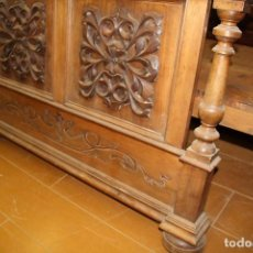 Antigüedades: CAMA INDIVIDUAL DE NOGAL (PARA RESTAURAR). Lote 71180553