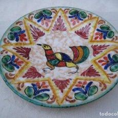 Antigüedades: PLATO EN CERAMICA VIDRIADA DE TOLEDO.. Lote 71192485