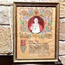 Antigüedades: CUADRO DE BENDICION APOSTOLICA DE SU SANTIDAD JUAN XXIII, DEL 1962.. Lote 71201197