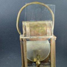 Antigüedades: CANDÍL DE CARBURO CON REFLECTOR MARCA ABUTIN PARIS.. Lote 71212225
