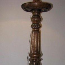 Antigüedades: ANTIGUA LÁMPARA DE PIE EN MADERA.. Lote 71214961