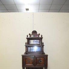 Antigüedades: MUEBLE ANTIGUO O PEQUEÑO APARADOR CON ALTILLO. Lote 71232731