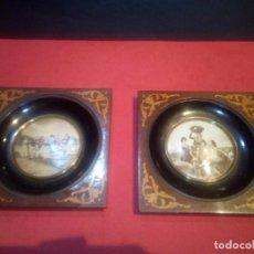Antigüedades: PAREJA DE CORNUCOPIAS CUADROS DE GOYA AÑOS 40. Lote 71252671
