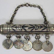 Antigüedades: COLGANTE O AMULETO. METAL PLATEADO. ÁRABE. SIGLO XIX-XX.. Lote 71311783