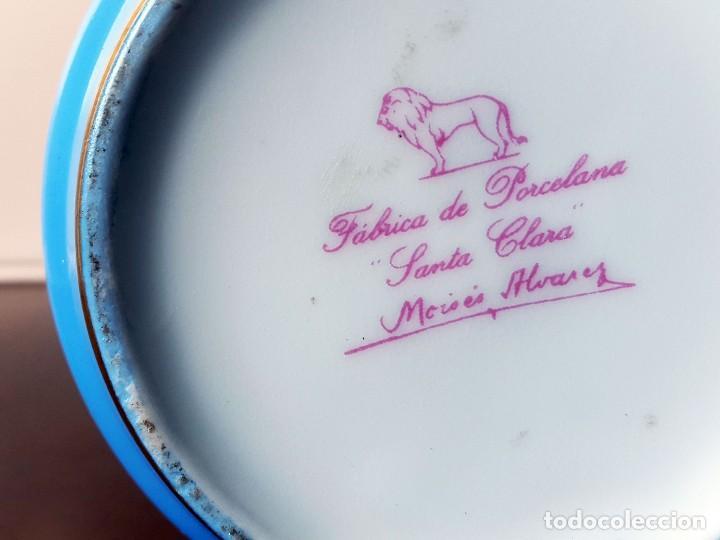 Antigüedades: FLORERO VIOLETERO PINTADO A MANO Y FIRMADO MOISES ALVAREZ. SANTA CLARA - Foto 4 - 71330947