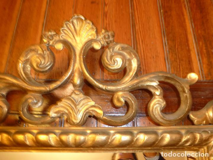 Antigüedades: espejo de talla dorado - Foto 2 - 71397415