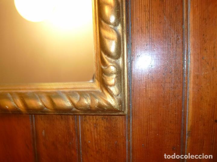 Antigüedades: espejo de talla dorado - Foto 3 - 71397415