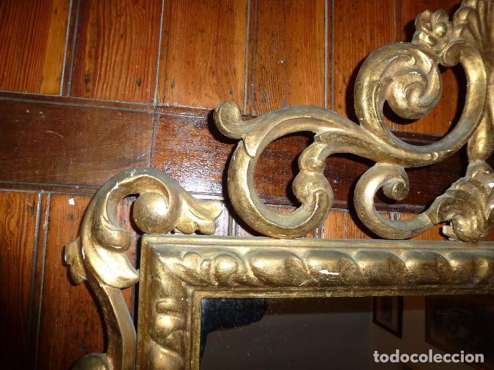 Antigüedades: espejo de talla dorado - Foto 5 - 71397415