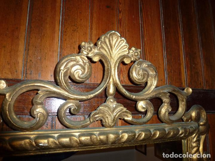 Antigüedades: espejo de talla dorado - Foto 6 - 71397415