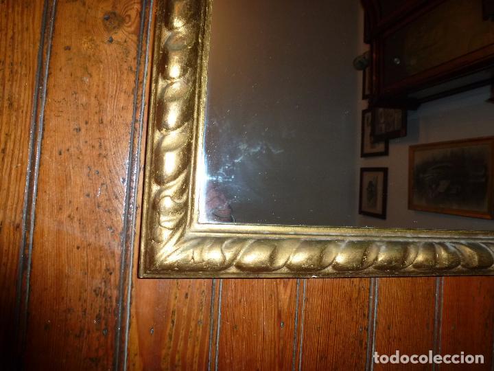 Antigüedades: espejo de talla dorado - Foto 7 - 71397415