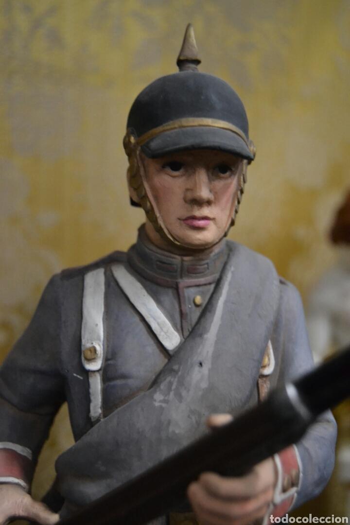 Antigüedades: figuras de soldados porcelana algora en - Foto 4 - 71458965