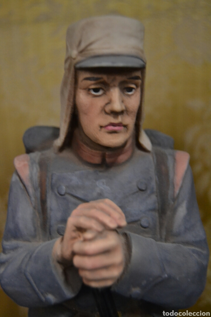 Antigüedades: figuras de soldados porcelana algora en - Foto 5 - 71458965