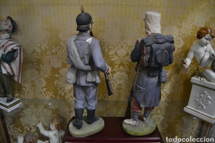 Antigüedades: figuras de soldados porcelana algora en - Foto 7 - 71458965