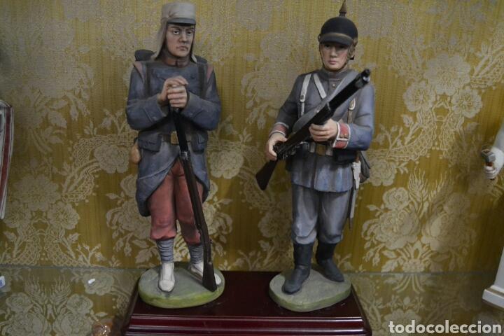 Antigüedades: figuras de soldados porcelana algora en - Foto 8 - 71458965
