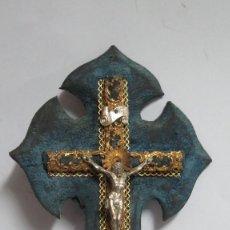 Antigüedades: CRUCIFIJO BENDITERA. SIGLO XIX. Lote 71462183
